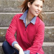 Fusion Ladies' Quarter-Zip Nano-Fleece Pullover
