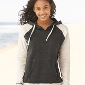 Ladies' Reese Raglan Hooded Pullover Sweatshirt