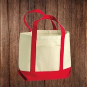 8867 Seaside Small Cotton Canvas Boater Tote