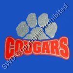 Cougars Glitter Paw