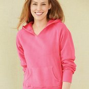 Ladies' Pigment Dyed Hooded Pullover