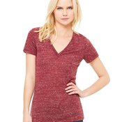 Deep V-Neck Jersey T-Shirt