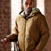 Adult Sanded Duck Sherpa-Lined Hooded Jacket