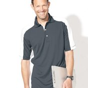 0465 Adult Colorblocked Moisture Free Mesh Sport Shirt
