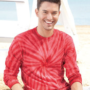240CY Adult Cyclone Vat-Dyed Pinwheel Long Sleeve T-Shirt
