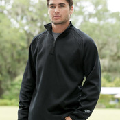 1/4 Zip Flatback Mesh Fleece Pullover