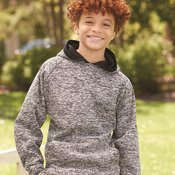 8610 Youth Cosmic Fleece Hooded Pullover Sweatshirt