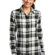 Ladies Plaid Flannel Tunic