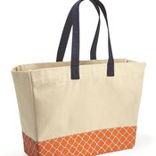 BB100 Patterned Bottom Beach Tote