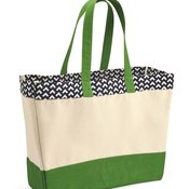 BB300 Patterned Top Beach Tote